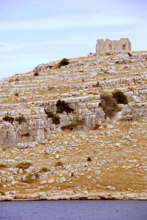 kornat: The remains of a roman castle on the island Kornat in Croatia