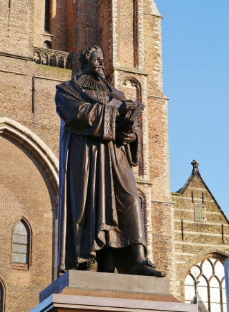 poems: Statue of Hugo Grotius a poet and jurist in the Dutch history