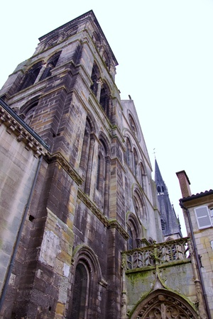 vaux: The gothic cathedral notre dame en vaux in Chalon en champagne in France Stock Photo