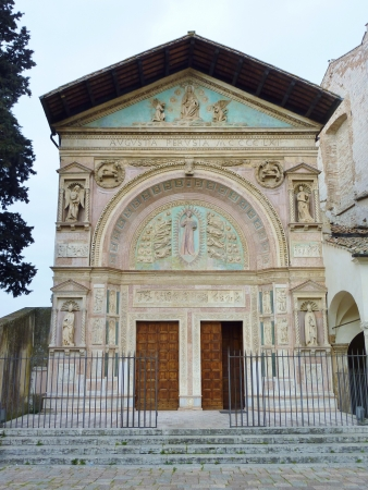 The Oratory of san Bernardino in Perugia in Tuscany in Italy Stock Photo - 17075126