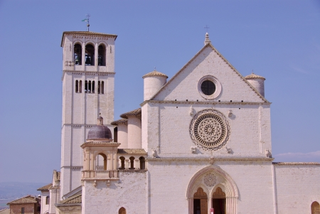 st  francis: The basilica of san Francesco  saint Francis  in Assisi in Tuscany in Italy