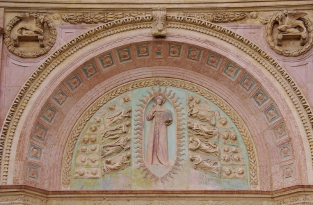 A detail of the Oratory of san Bernardino in Perugia in Tuscany in Italy Stock Photo - 17105414