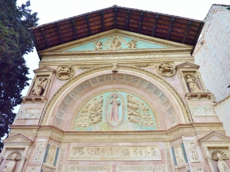 A detail of the Oratory of san Bernardino in Perugia in Tuscany in Italy Stock Photo - 17092924
