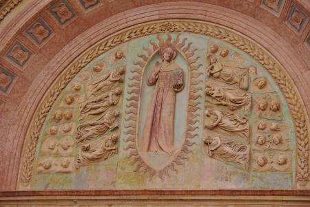 oratoria: Un detalle del Oratorio de San Bernardino en Perugia en la Toscana en Italia
