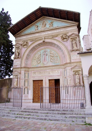 The Oratory of san Bernardino in Perugia in Tuscany in Italy Stock Photo - 17092921
