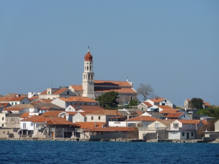 The Croatian village Betina at the island Murter in the Adriatic sea in Croatia photo