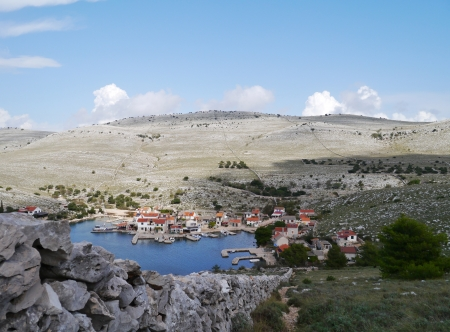 kornat: The bay of the village Vrulje on the island Kornat in Croatia Stock Photo