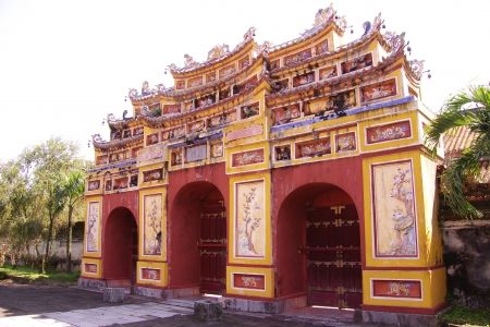 One of the gates of the forbidden city in Hue in Vietnam Stock Photo - 17261669