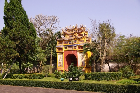 One of the gates of the forbidden city in Hue in Vietnam Stock Photo - 17261678