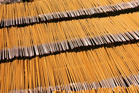 Drying incense sticks in Vietnam Stock Photo - 17266926