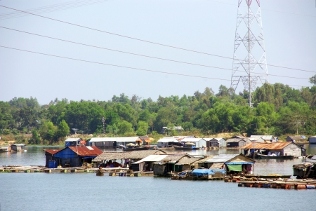 Floating villages in Ho tri an in Vietnam Stock Photo - 17453660