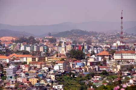 A view at the city Dalat in Vietnam Stock Photo - 17416686