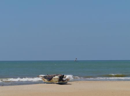 A motor fishing boat on the beach in Sri Lanka Stock Photo - 17816400