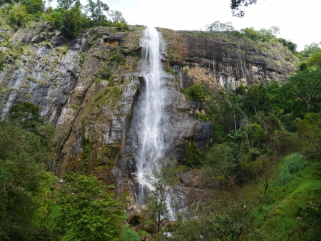 The diyaluma waterfalls in the surroundings of Ella in Sri Lanka photo