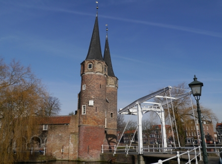 The historic east gate in Delft in the Netherlands Stock Photo - 18008081
