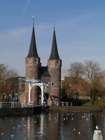 The historic east gate in Delft in the Netherlands Stock Photo - 18008083