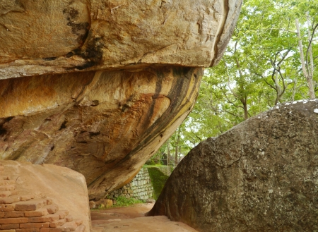 The water garden with its rocks around Sigiriya  Lion�s rock  in Sri Lanka Stock Photo - 17988582