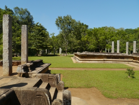 anuradhapura: The remains of the center of the ancient capital  Anuradhapura in Sri Lanka