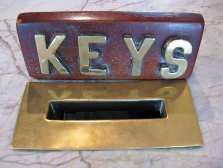 key box: A key box of copper