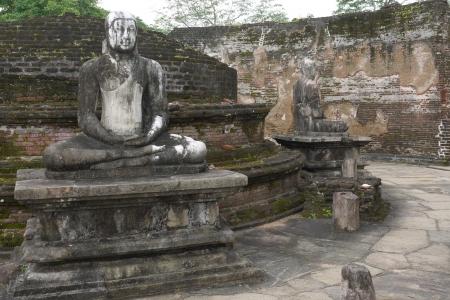 The historic Vatadage  a ruin of a stupa in Polonnaruwa in Sri Lanka Stock Photo - 18135907