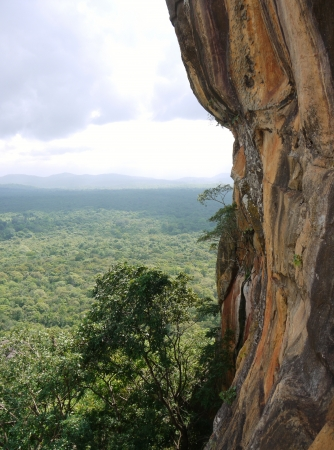 lions rock: The lions rock  Sigiriya  an ancient rock fortress in Sri Lanka Stock Photo