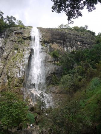 The diyaluma waterfalls in the surroundings of Ella in Sri Lanka Stock Photo - 18161564