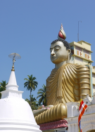 A huge Buddha at wewurukannala Vihara temple in Sri Lanka Stock Photo - 18230042
