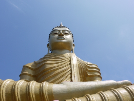 A huge Buddha at wewurukannala Vihara temple in Sri Lanka Stock Photo - 18230043