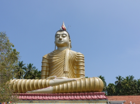 The huge statue of Buddha at wewurukannala Vihara temple in Sri Lanka Stock Photo - 18199695