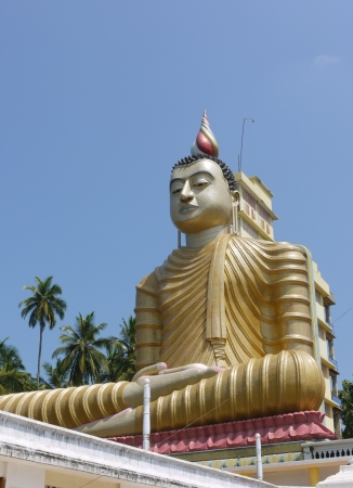 The huge statue of Buddha at wewurukannala Vihara temple in Sri Lanka Stock Photo - 18199694