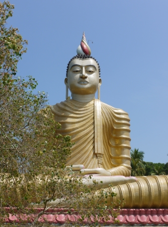 The huge statue of Buddha at wewurukannala Vihara temple in Sri Lanka
