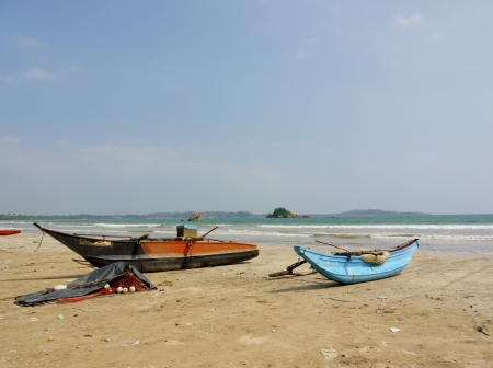 A traditional fishing boats on the beach in Sri Lanka Stock Photo - 18229819