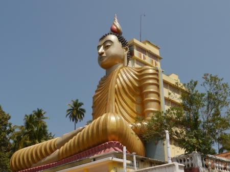 A huge Buddha at wewurukannala Vihara temple in Sri Lanka Stock Photo - 18229848