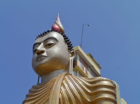 A huge Buddha at wewurukannala Vihara temple in Sri Lanka Stock Photo - 18229900