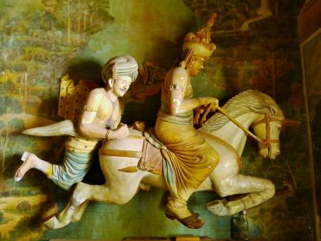 Colorful statues of the Wewurukannala Vihara temple in Sri Lanka Stock Photo - 18229899