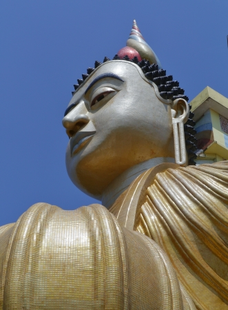 A huge Buddha at wewurukannala Vihara temple in Sri Lanka Stock Photo - 18229908
