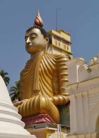 The huge statue of Buddha at wewurukannala Vihara temple in Sri Lanka Stock Photo - 18216349