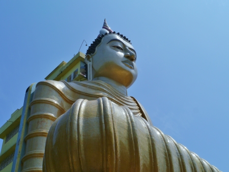 The huge statue of Buddha at wewurukannala Vihara temple in Sri Lanka Stock Photo - 18216371