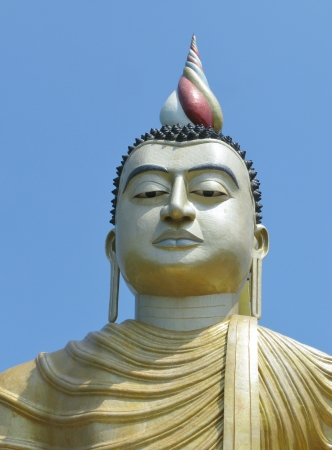 A huge Buddha at wewurukannala Vihara temple in Sri Lanka