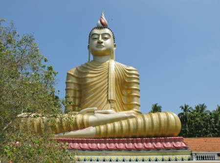 A huge Buddha at wewurukannala Vihara temple in Sri Lanka Stock Photo - 18264039