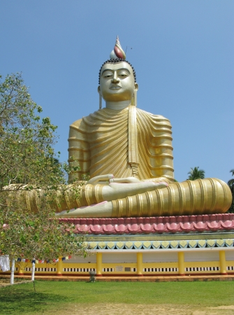 A huge Buddha at wewurukannala Vihara temple in Sri Lanka Stock Photo - 18264780