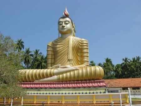 A huge Buddha at wewurukannala Vihara temple in Sri Lanka Stock Photo - 18264790