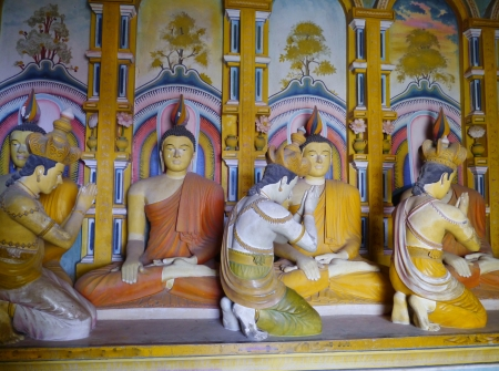 Colorful statues of the Wewurukannala Vihara temple in Sri Lanka Stock Photo - 18279997