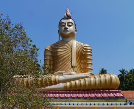 A huge Buddha at wewurukannala Vihara temple in Sri Lanka Stock Photo - 18290950
