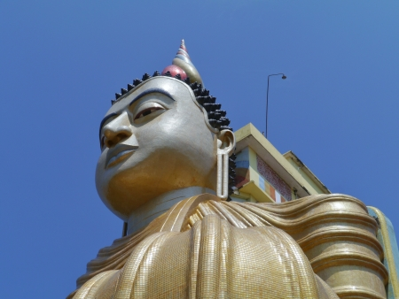 A huge Buddha at wewurukannala Vihara temple in Sri Lanka Stock Photo - 18291003