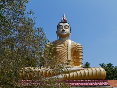 A huge Buddha at wewurukannala Vihara temple in Sri Lanka Stock Photo - 18290973