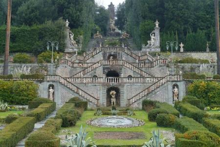 garzoni: The garden of the villa Garzoni near Lucca in Italy Stock Photo