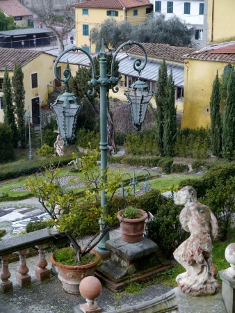 The garden of the villa Garzoni in Collodi in Italy photo