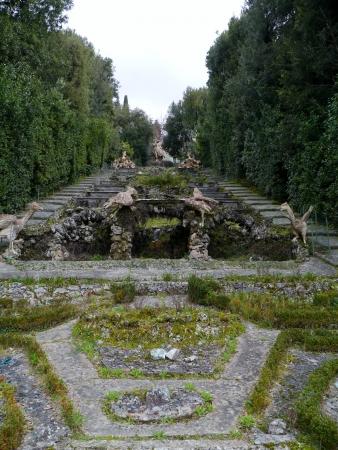 The garden of the villa Garzoni in Collodi in Italy Stock Photo - 18786396