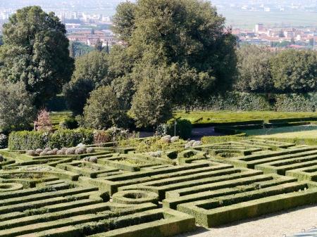 The garden of the villa la Petraia in Castello  in Italy in spring Stock Photo - 18786499